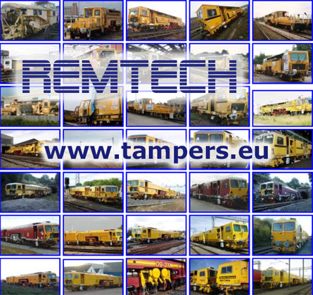 NEW REMTECH™ mechanization, USED PLASSER mechanization and REBUILT PLASSER mechanization